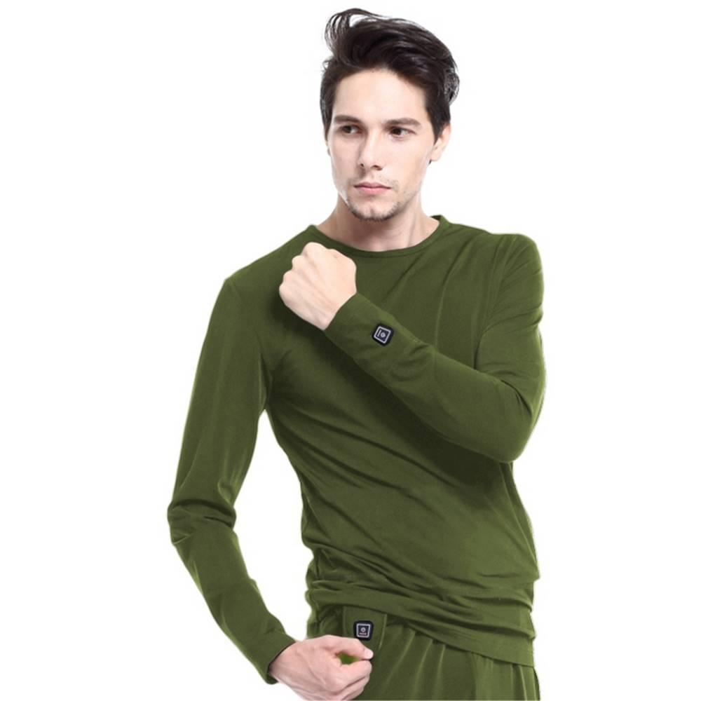 Glovii Vyhrievané tričko s dlhým rukávom Glovii GJ1C zelená - M