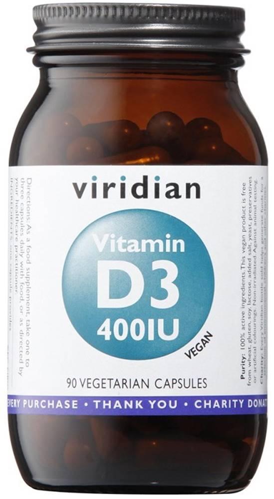 Viridian Viridian Vitamín D3 400 IU 90 kapsúl