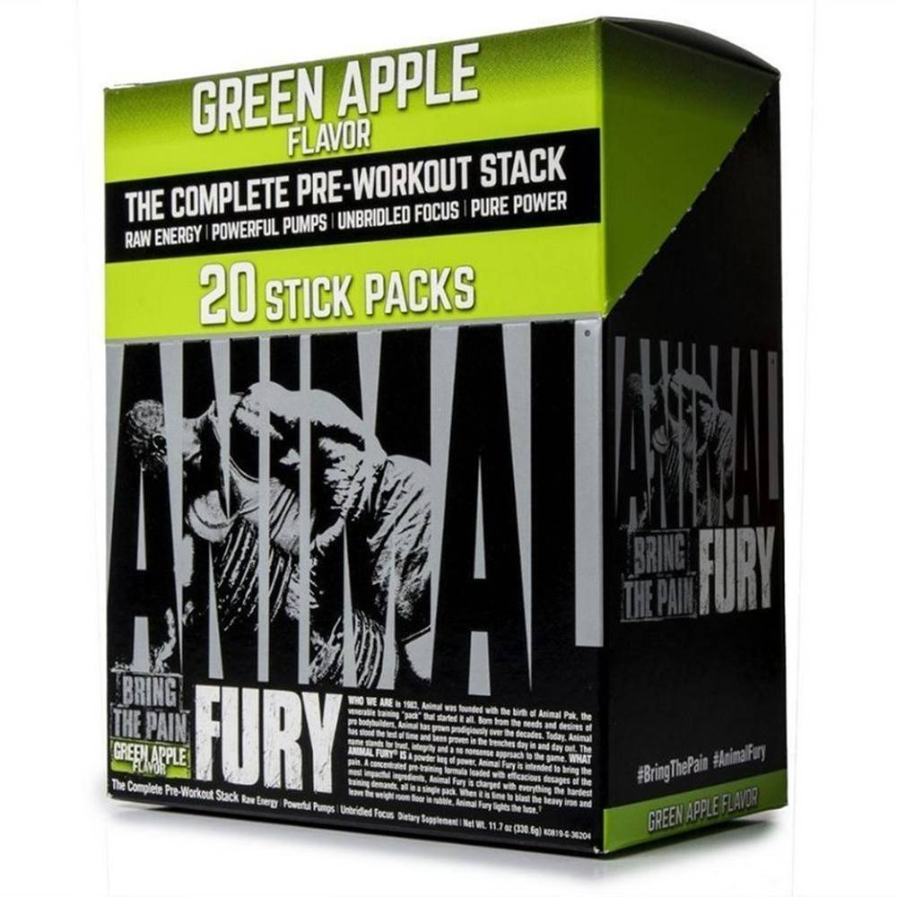 Universal Nutrition Animal Fury Stick Pack - Universal 20 x 16,5 g Green Apple