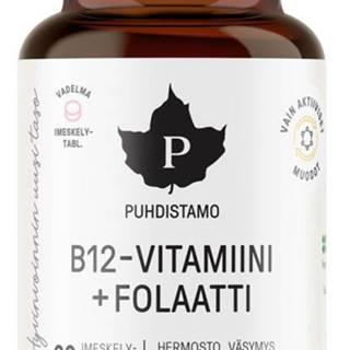 Puhdistamo Vitamín B12 Fola (Vitamín B12 s folátom Quatrefolic) 60 tabliet variant: malina