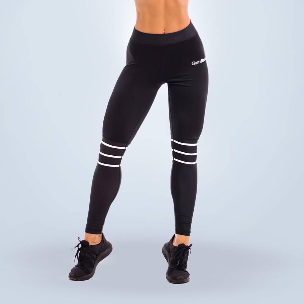 GymBeam GymBeam Dámske legíny Stripes Black  XL