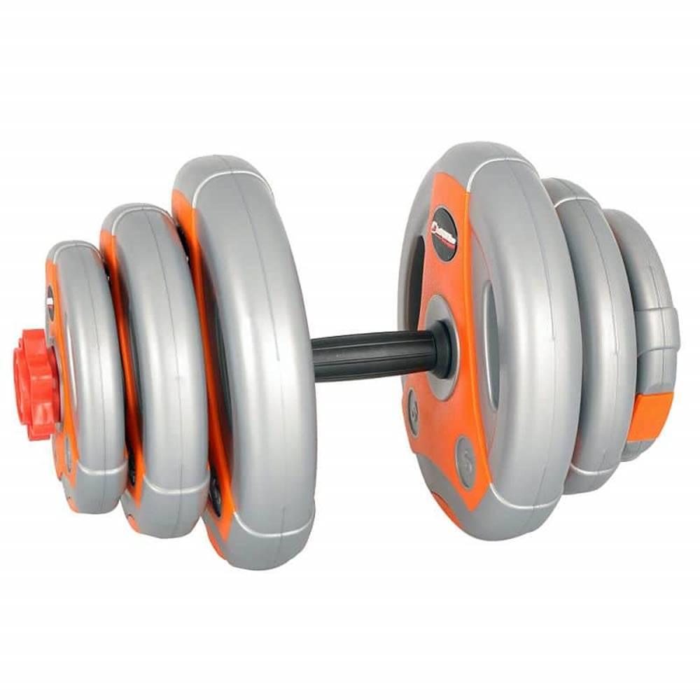 Insportline Jednoručný nakladací činkový set inSPORTline 3-18 kg šedo-oranžový