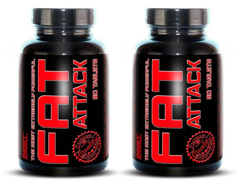 Best Nutrition 1+1 Zadarmo: Fat Attack od Best Nutrition 90 tbl. + 90 tbl.