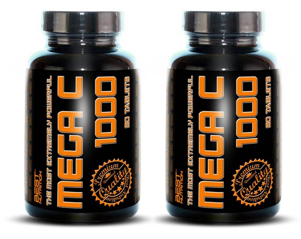 Best Nutrition 1+1 Zadarmo: Mega C 1000 - Best Nutrition 90 tbl. + 90 tbl.