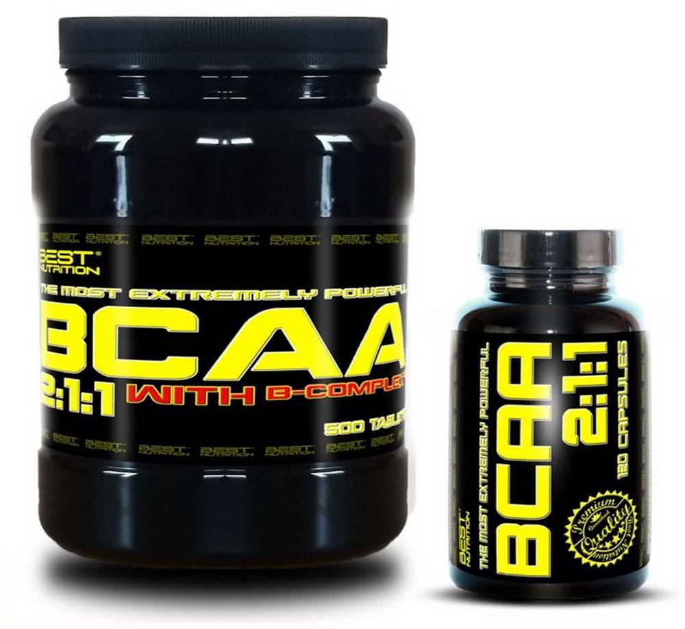 Best Nutrition BCAA 5000 + BCAA 2:1:1 Zadarmo od Best Nutrition 250 tbl. + 120 kaps.