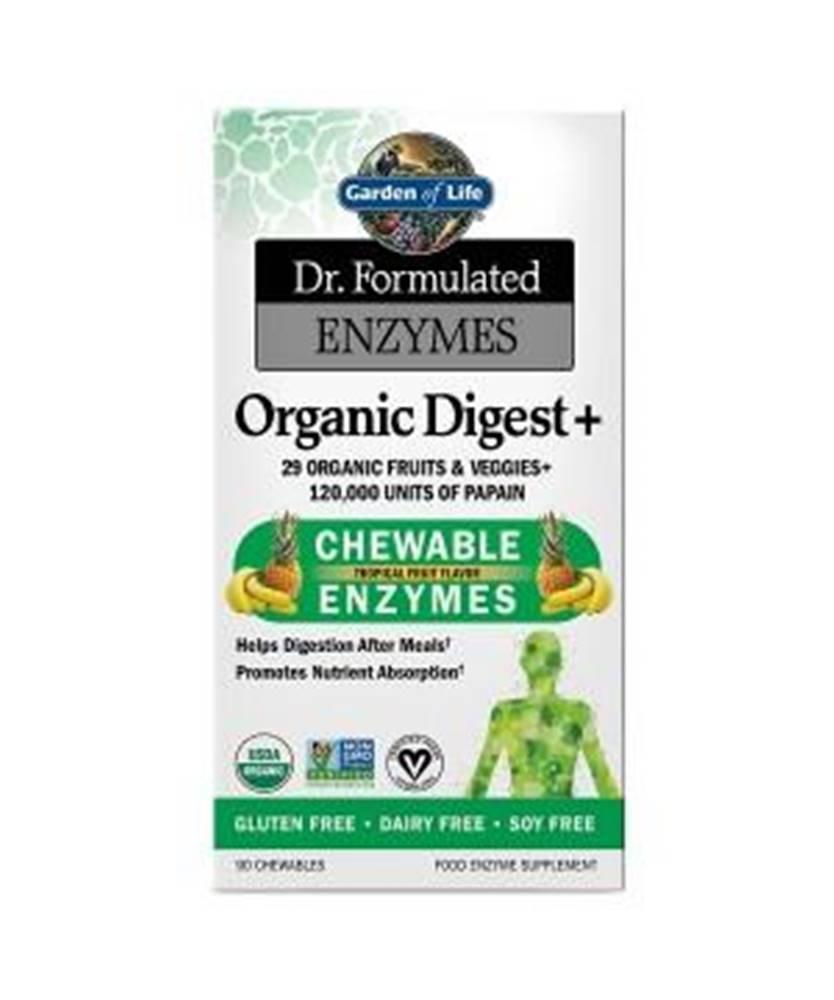 Garden of life Dr. Formulated Organické Enzymy na podporu trávení - s příchutí tropického ovoce
