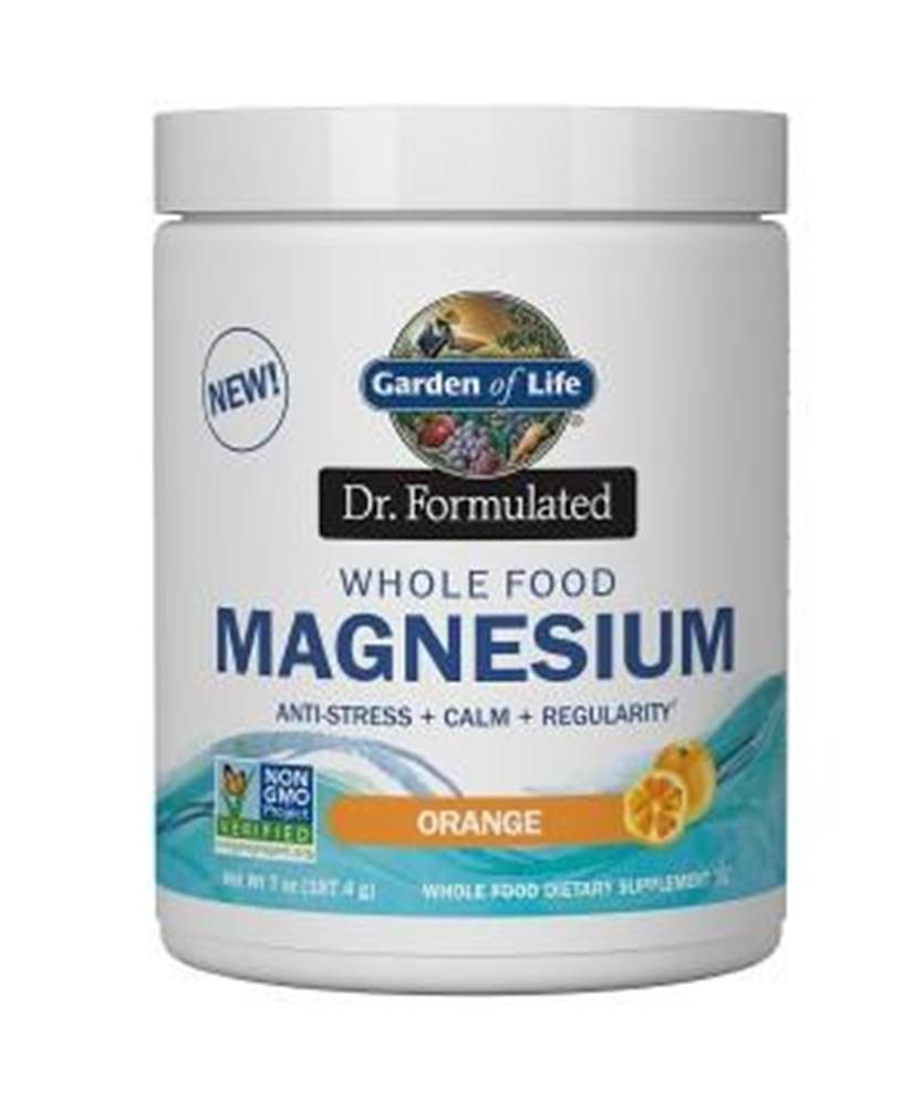 Garden of life Magnesium Dr. Formulated - Hořčík - pomerančový 197,4g