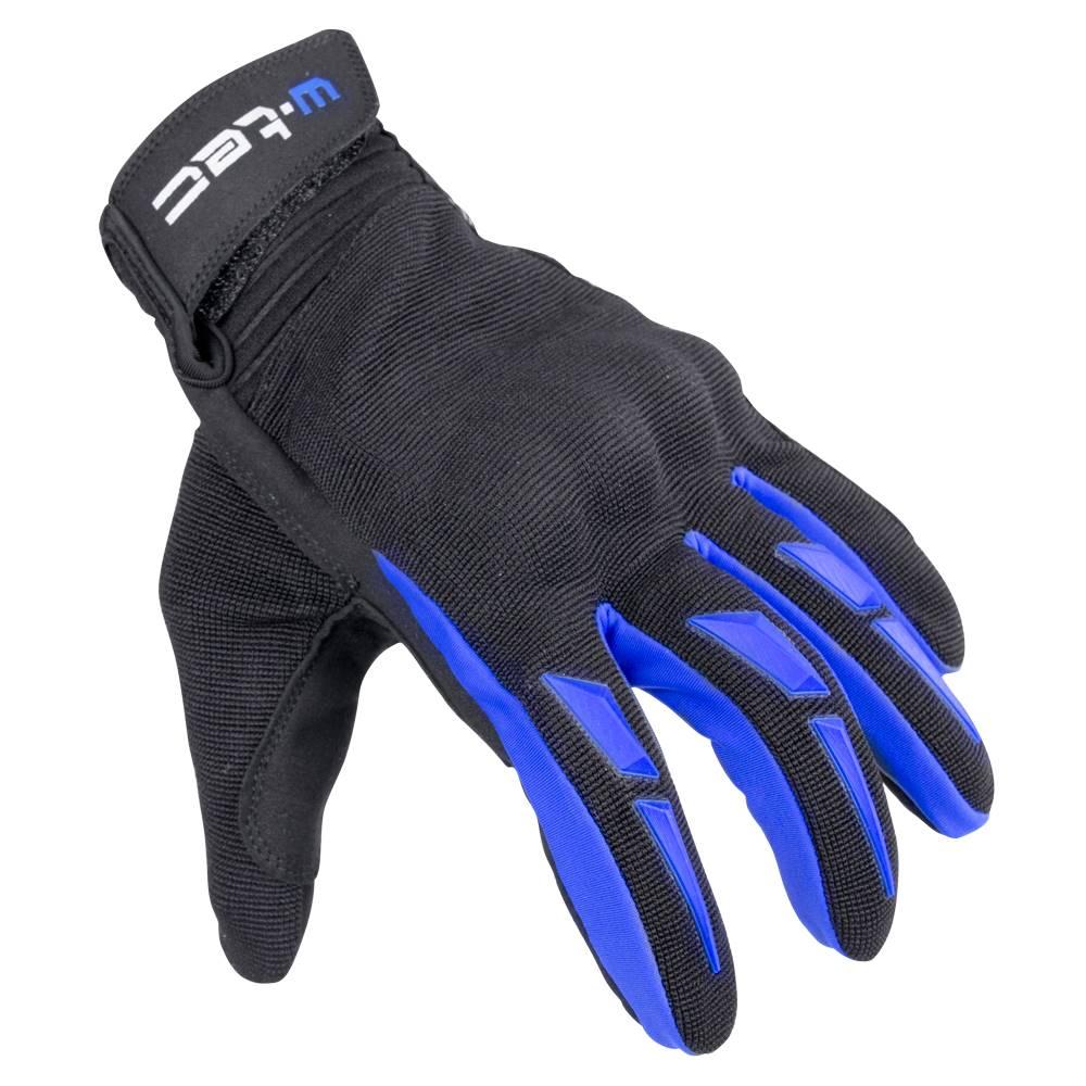 W-Tec Moto rukavice W-TEC Hirshla GS-9044 modro-čierna - XS