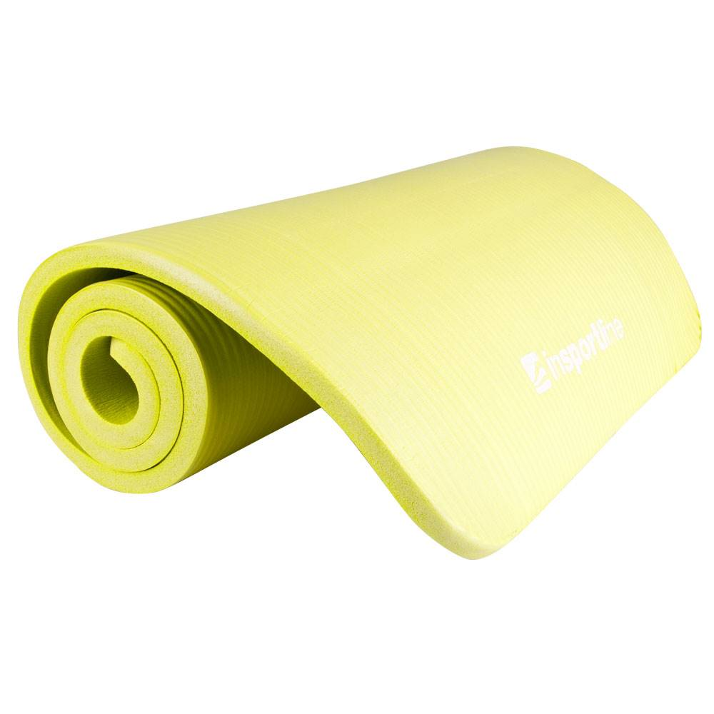 Insportline Podložka na cvičenie inSPORTline Fity 140x61x1,5 cm zeleno-žltá