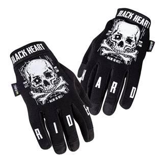Moto rukavice W-TEC Web Skull čierna - S