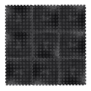 Puzzle zátažová podložka inSPORTline Avero 0,6 cm čierna