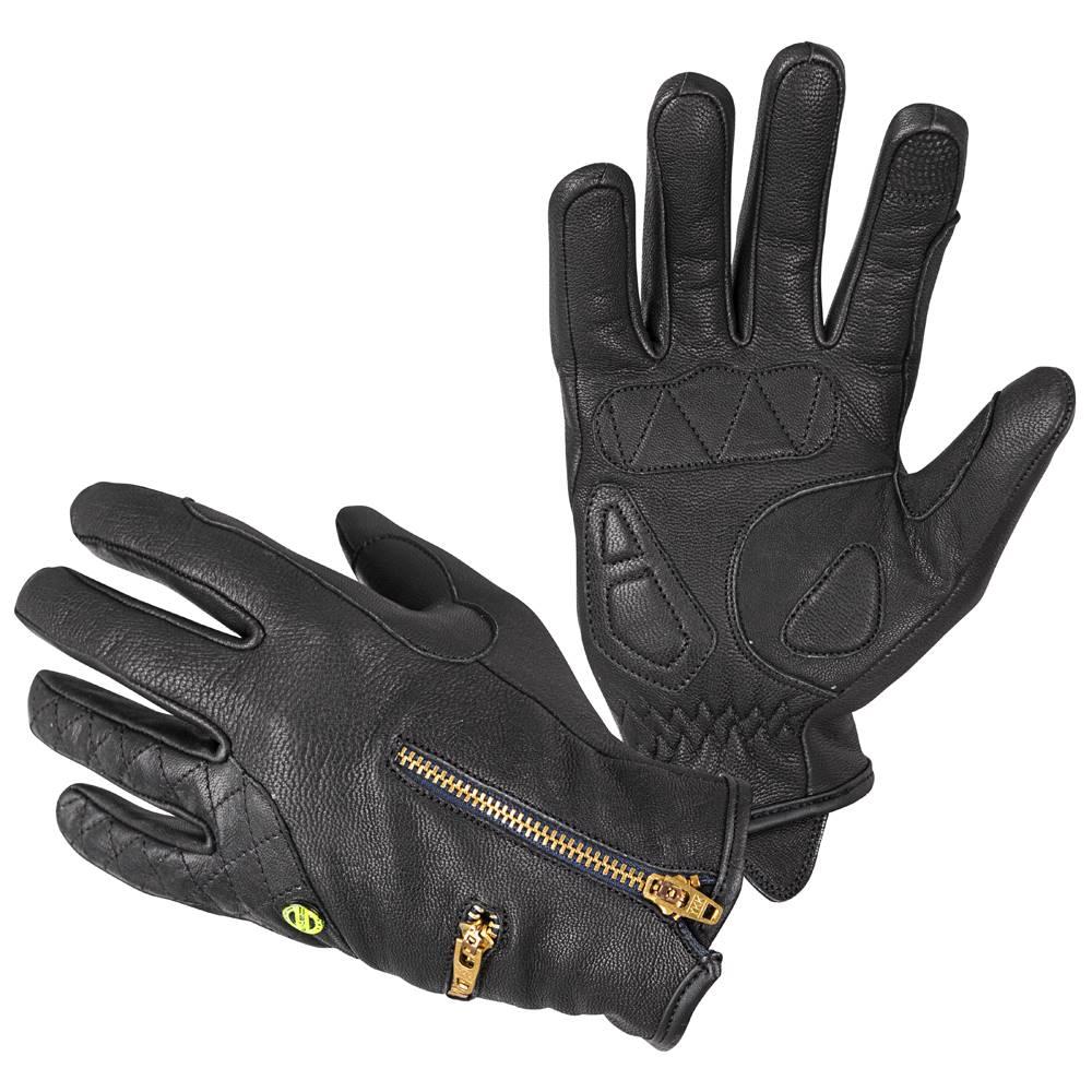 W-Tec Dámske kožené moto rukavice W-TEC Perchta čierna - XS