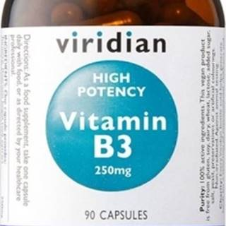 Viridian High Potency Vitamín B3 250 mg 90 kapsúl