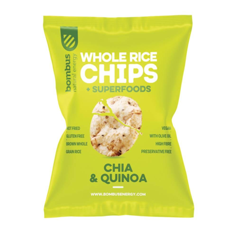 Bombus Bombus Rýžové čipsy Chia a Quinoa 60 g