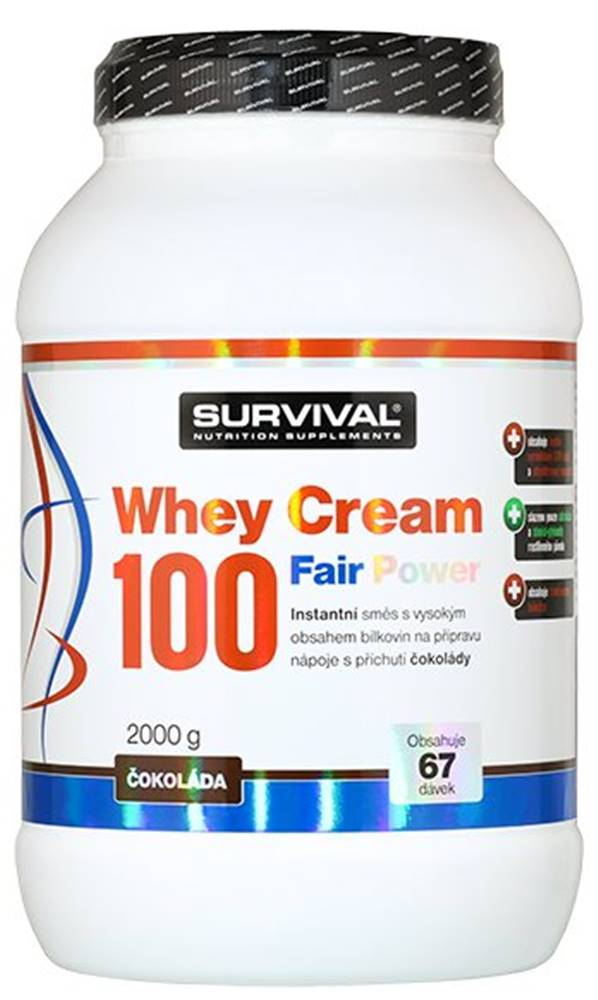 Survival Survival Whey Cream 100 Fair Power 1000 g variant: čokoláda